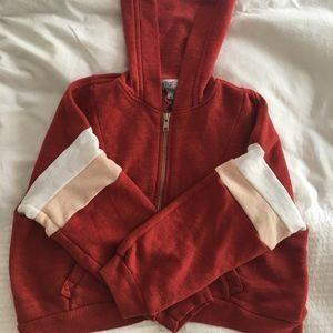 WILDFOX kids zip-up hoodie red